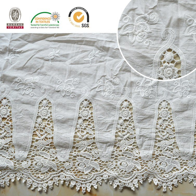 Fashion Funnel Pattern Lace Fabric Material 2017 E30014