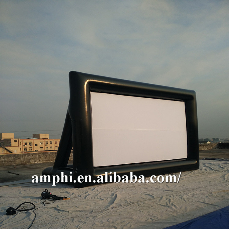 Commercial Inflatable Type Movie Screen Outdoor Advertising Air Screen