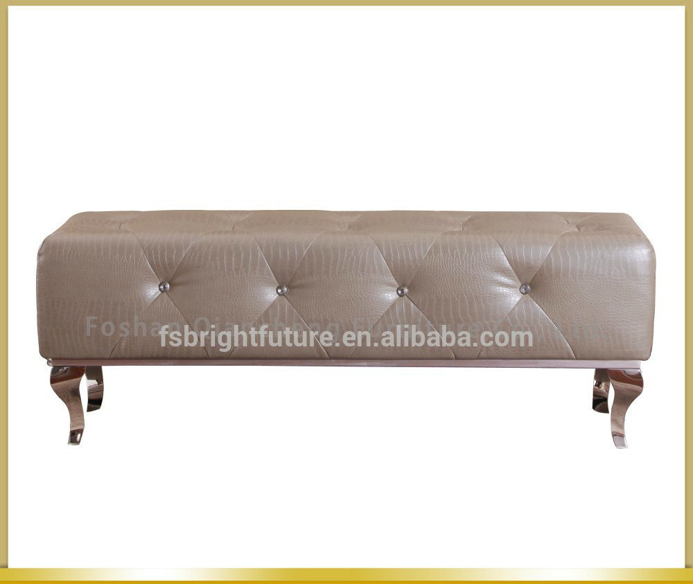 Modern Metal Frame Bed End Stool Bed Bench