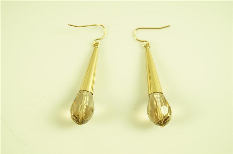 Teardrop with Glass Bead Earring