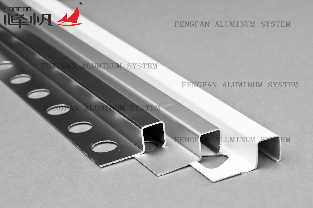 Dural Aluminum Square Tile Trim