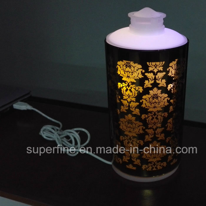 USB Charging Essential Oil Electroplate Glass Lighting LED Diffuser That Damper Air with Cool Mist