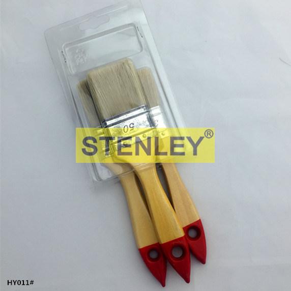 Set Brush Paint Brush Wooden Handle