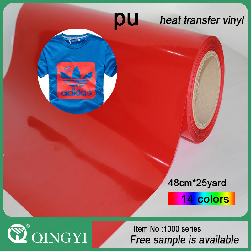 Qin Gyi Flex PU Heat Transfer Vinyl for Clothing and Bag