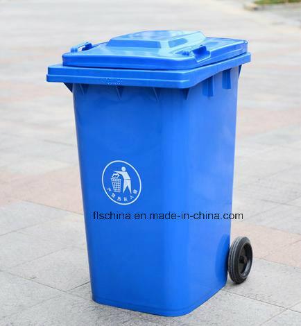 240L Outdoor Plastic Dust Bin with Good Quality (FLS-240L/HDPE/EN840)
