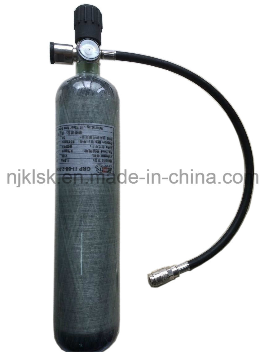 Factory Price 2L 3L Carbon Fiber Tanks for Fire Fighter Protection Air Breathing Apparatus