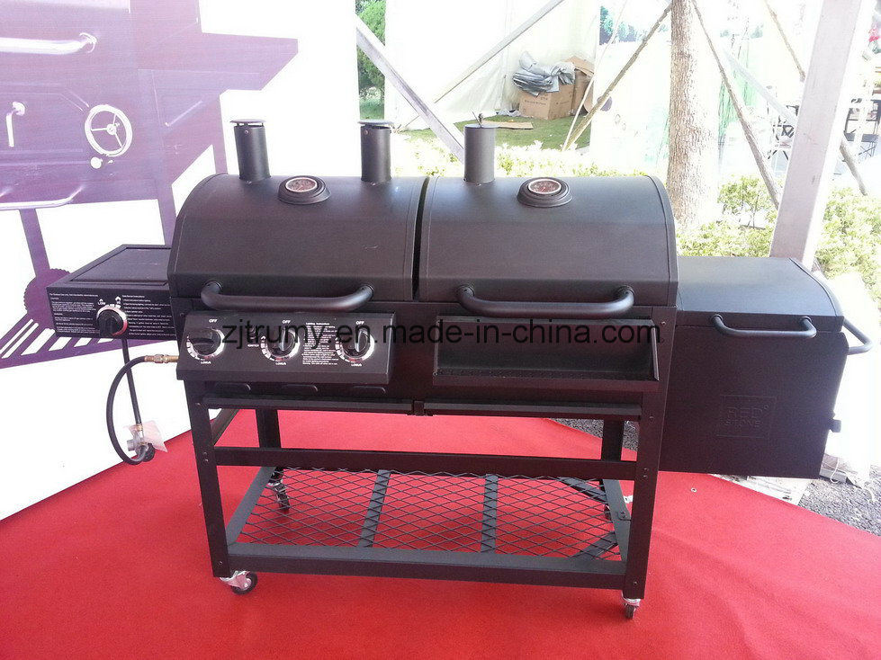 Garden Gas/Charcoal BBQ Grill with Chimeny