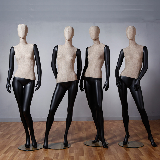 Full Body Fabric Wrapped Female Mannequin for Window Display