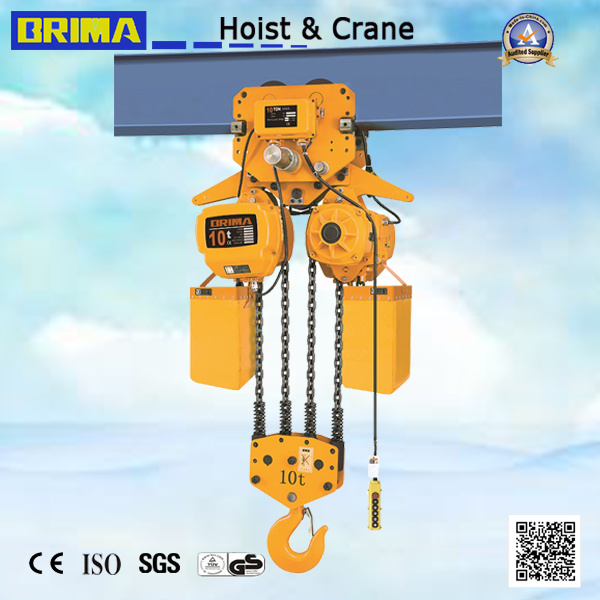 10ton Japan Electric Chain Hoist with Monorail Trolley (BM10-04S)