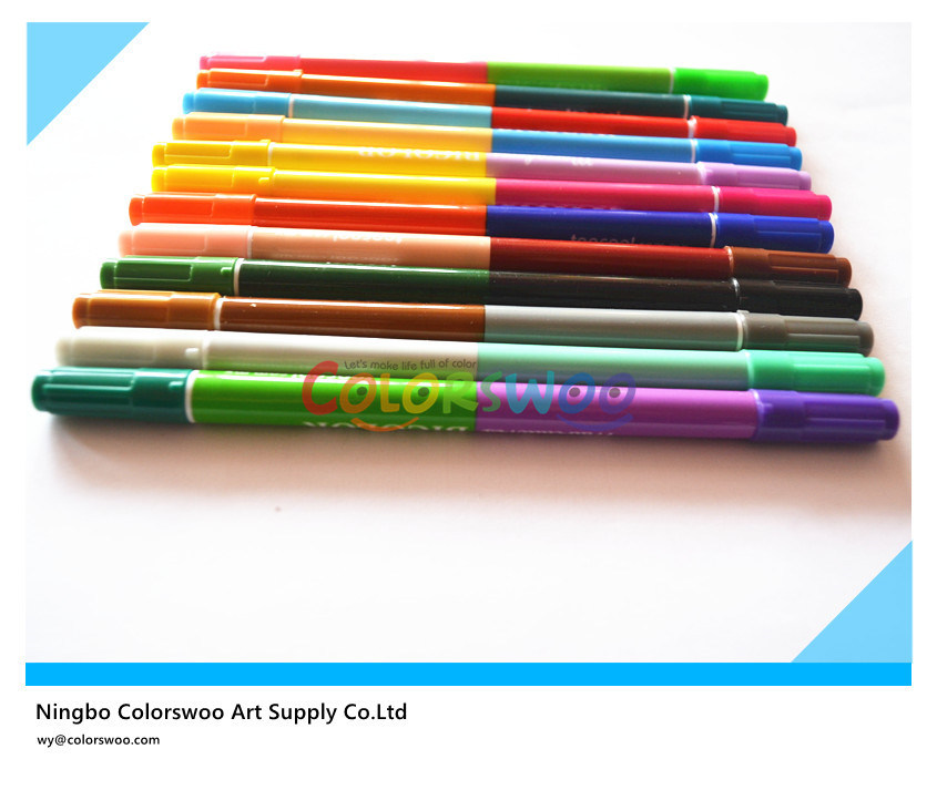 12PCS Dual Tip Water Color Pen for Kids and Students