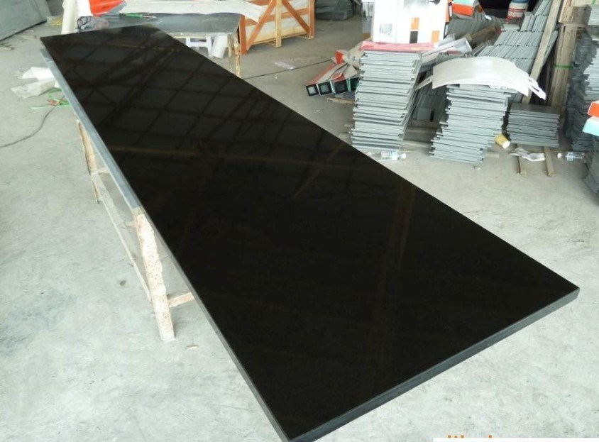 Chinese Absolute Black Granite Slab & Tile/Pure Black Granite/Shanxi Black Countertop for Decoration