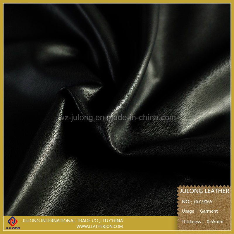 Sheep Grain PU Garment Leather (G019)