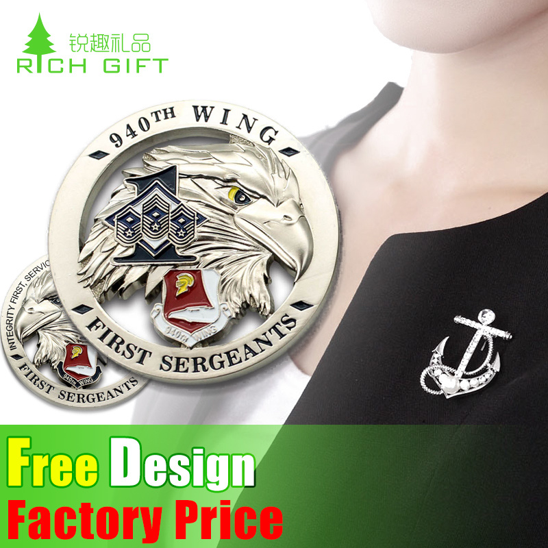 Custom Wholesale/Metal/Button/Pin/Tin/Police/Military/Emblem/Name/Enamel/Medal Badge (car badge)
