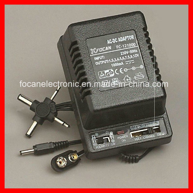 12V 1000mA AC-DC Power Adapter & Adjustable Voltage Transformer