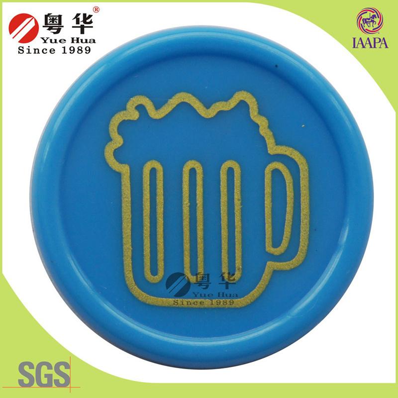 Custom Blue Quality Plastic Coins