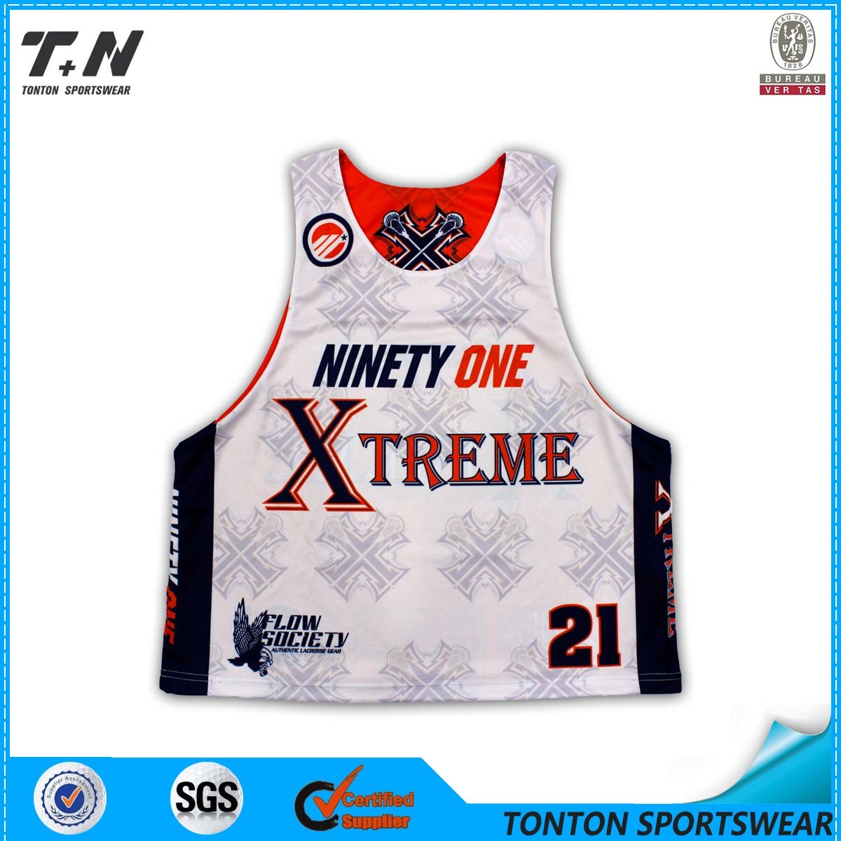 Wholesale Custom Sublimation Lacrosse Jersey for Men