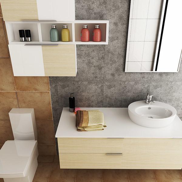 Oppein Australia Fashion PVC Hanging Bathroom Cabinet Vanity (OPW-PVC01)