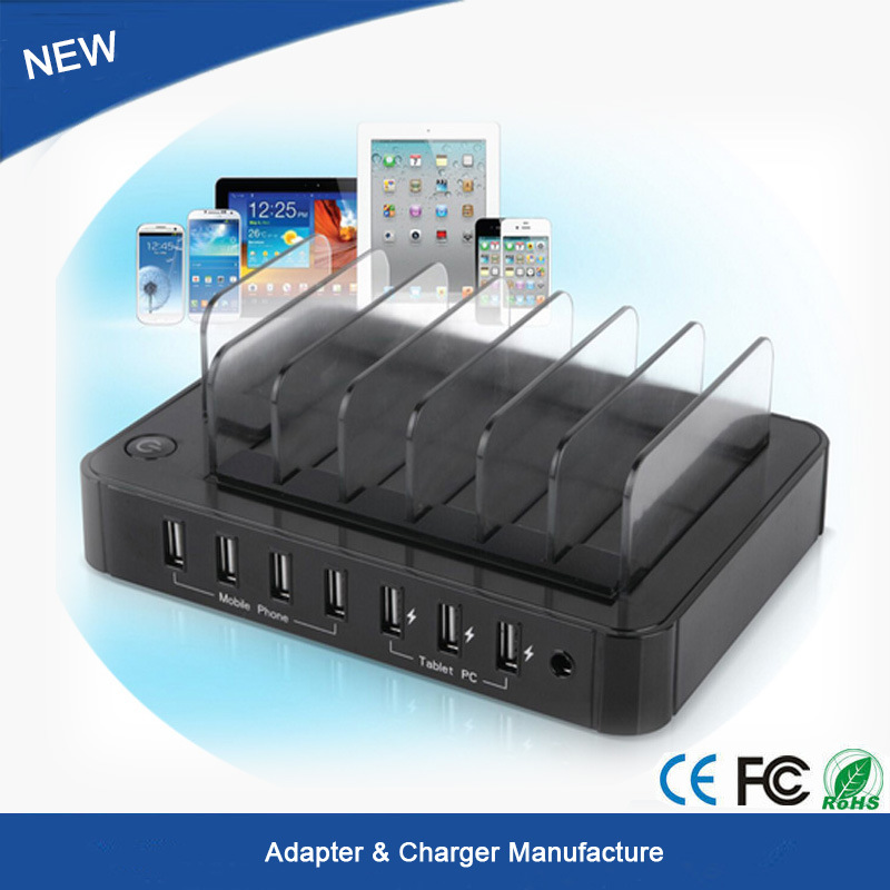 Multi 7 Port USB2.0 Hub USB Charger for Pad iPhone 6 7 Plus