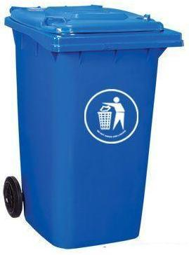 Blue 120lt Trash Bin Injection