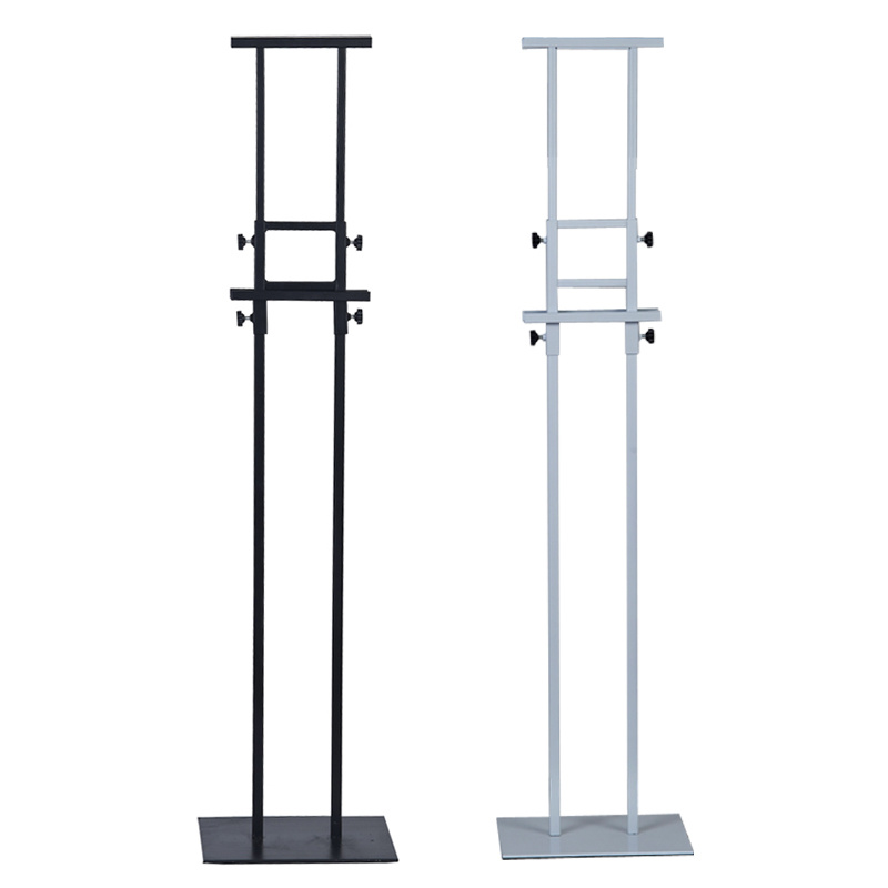 Steel Adjustable Info Poster Stand Powder Coated Black, Slide in