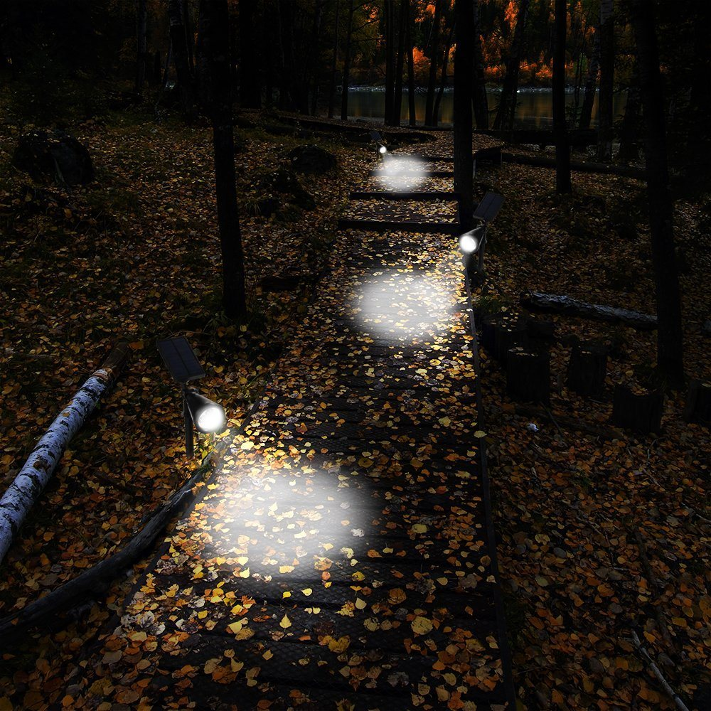 waterproof 4 led 200 lumens solar wall lights inground lights spotlights security lighting path