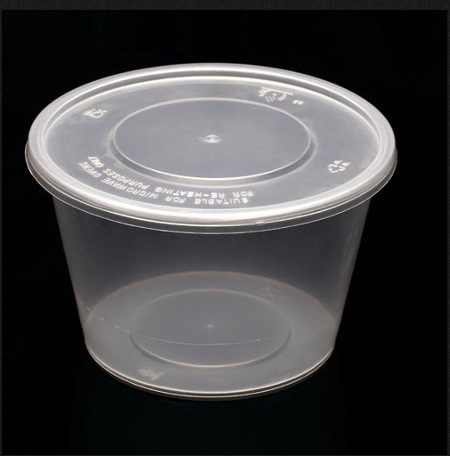 550ml Disposable Plastic Bowls with Cover Environmental Disposable Container