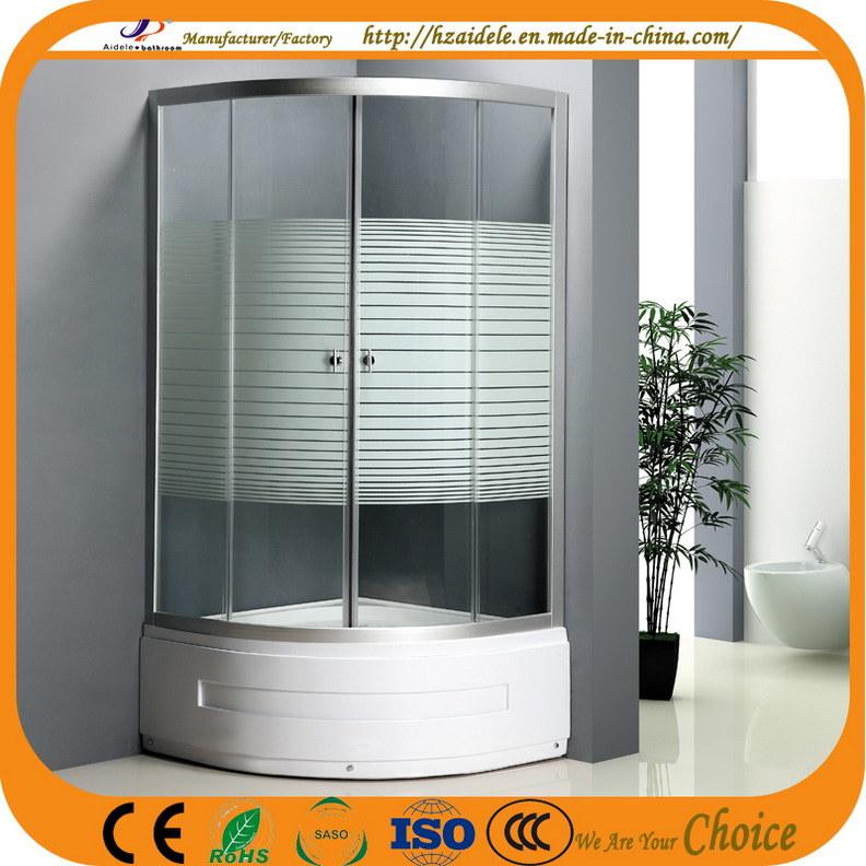 High Tray 45cm Stripe Glass Shower Cubicle (ADL-8035B)