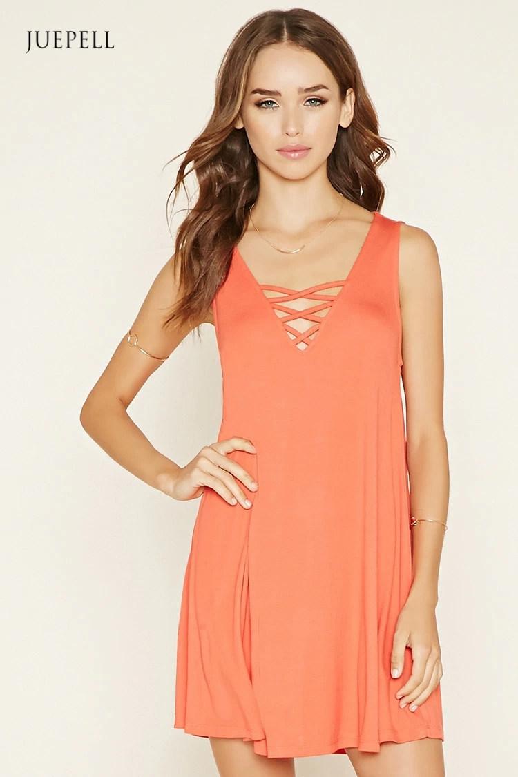 Fashion Crisscross A-Line Mini Dress