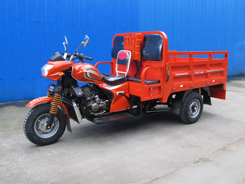 Three Wheel Cargo Tricycle with Two Passenger Seats