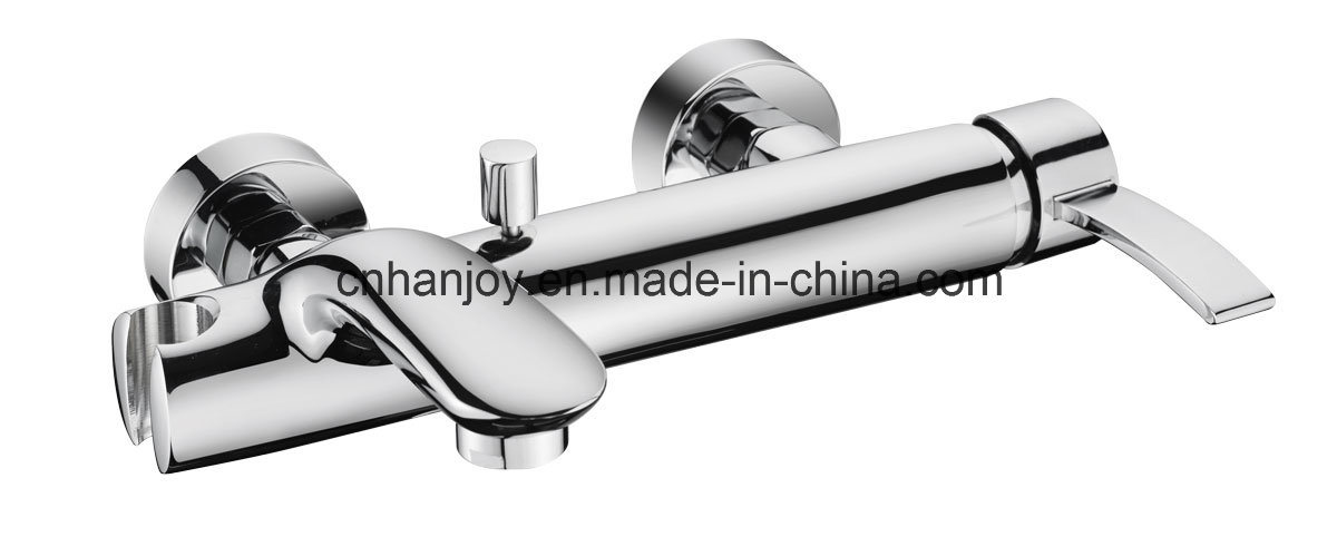 High Level Wall Mounted Single Handle Brass Bathtub Faucet (H04-102)