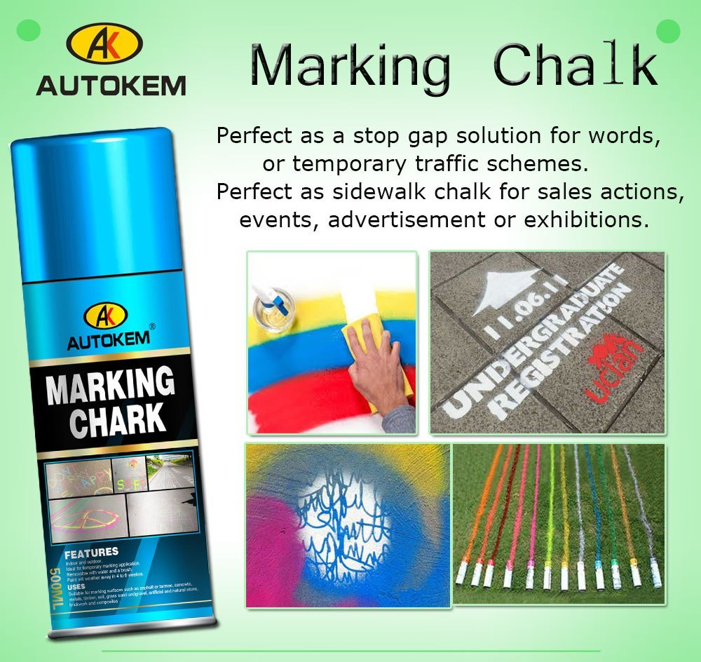 Marking Chalk, Chalk Spray, Temporary Marking Paint, Event Marking Paint, Water Removeable