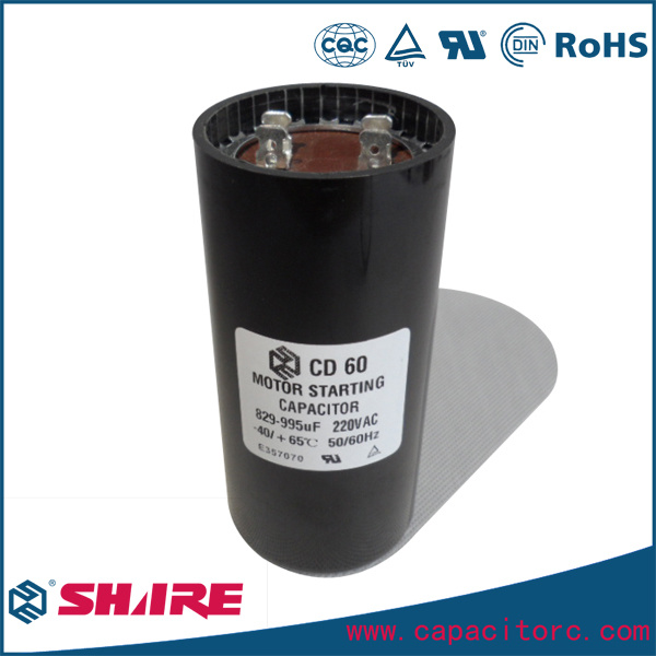 CD60 Capacitor 220V for Refrigerator Compressor Starting Capacitor
