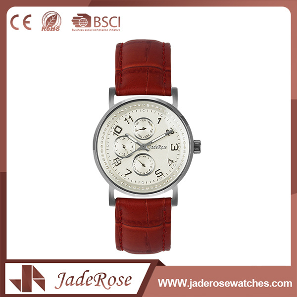 OEM Simple Bracelet Girls Leather Watch