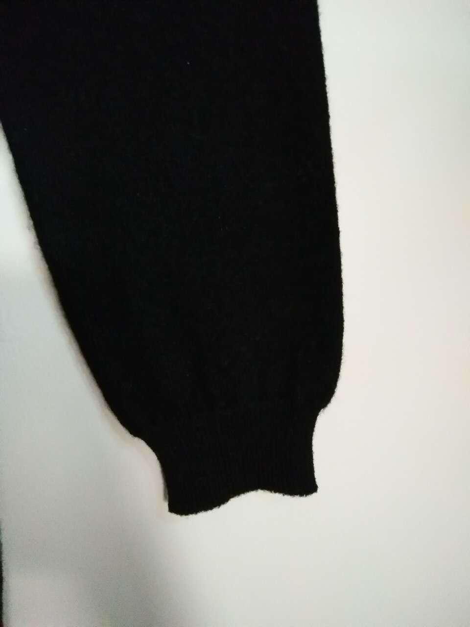 Trj016, 100%Cashmere, Black, Women&Lady, Good Quality, Sweater