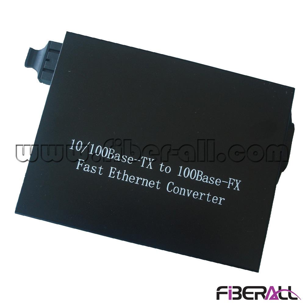10/100m Fiber Optic Media Converter 1550nm 1X9 Sm 60km