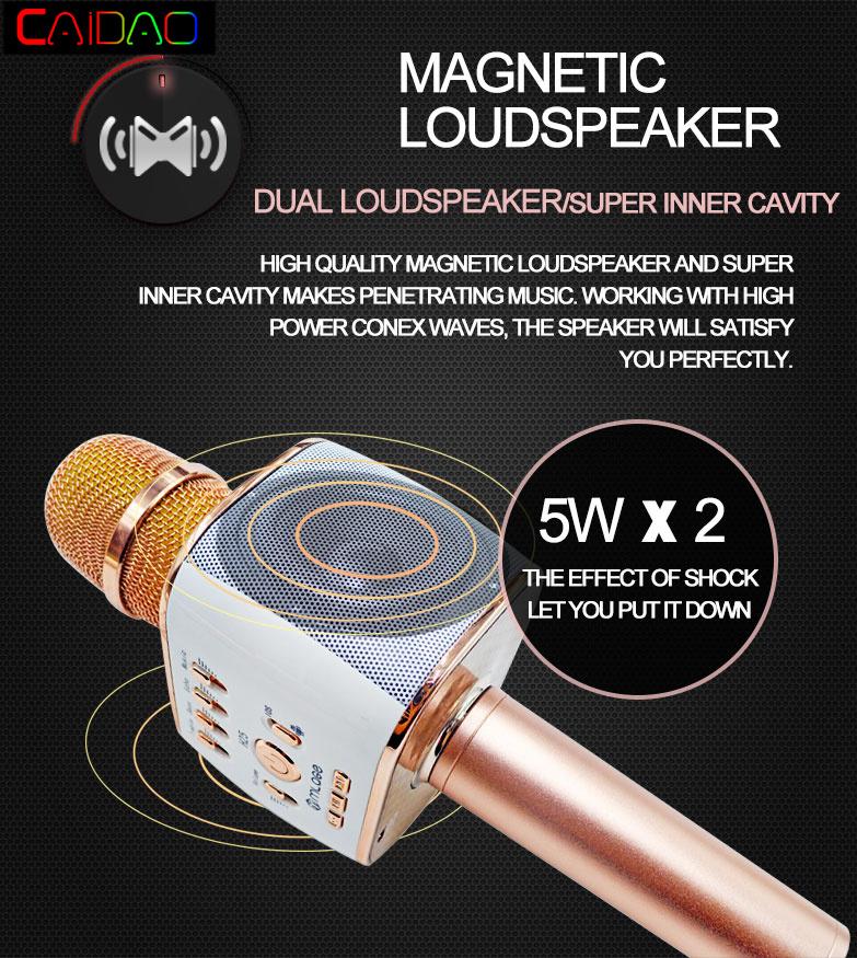 New SWC508 KTV Microphone Caidao Metal Wireless Bluetooth Portable Microphone Singing Speaker Music KTV