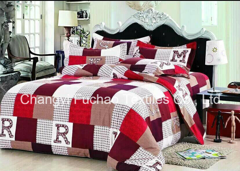 China Wholesale Microfiber Printed Bedspread Bedding Sets Stock
