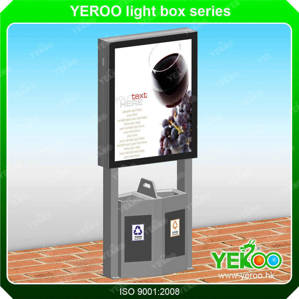 Aluminum Profile Mupi Signboard Light Box Advertising Light Box with Trash Can