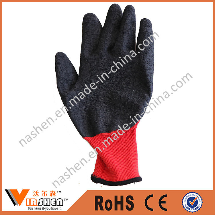 Cheap Colored Zebra-Stripe Nitrile Coated Nylon Gloves