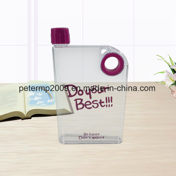 380ml A5 Flat Memo Water Bottle Cheap BPA Free Water Bottle