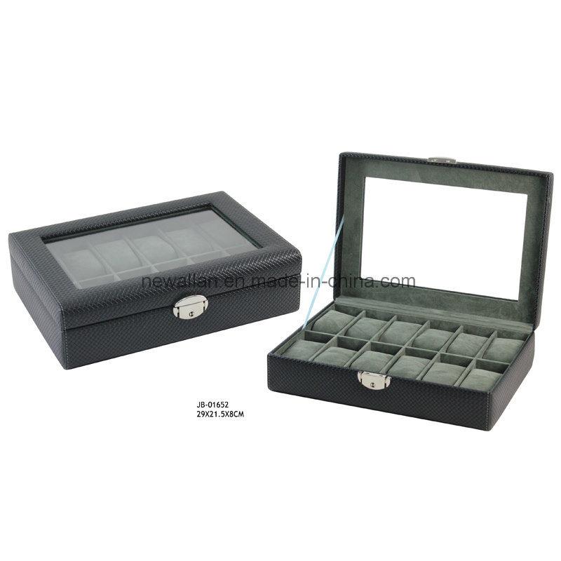 Glasses Window 12PCS Watches Storage Watch Case Watch Box