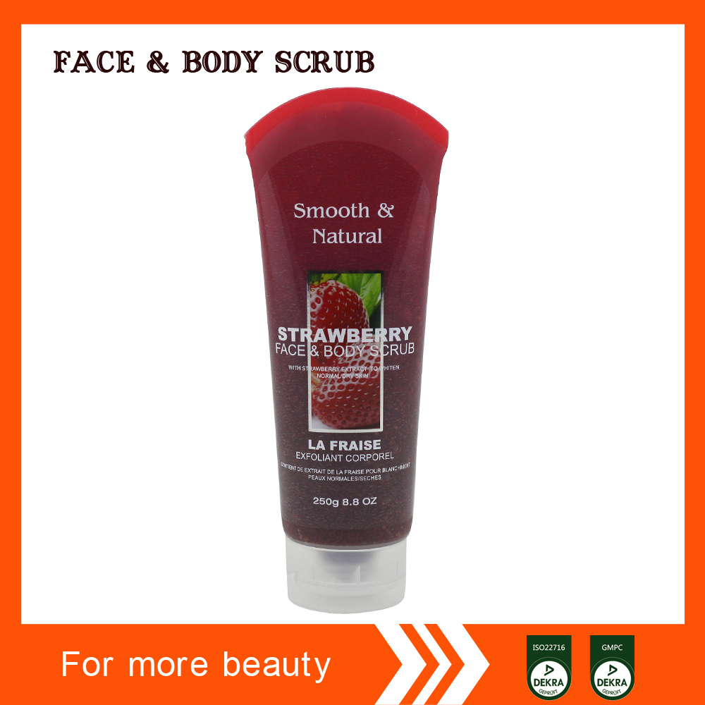Hot Selling Whitening and Moistuzing Exfoliate Skin Face and Body Scrub