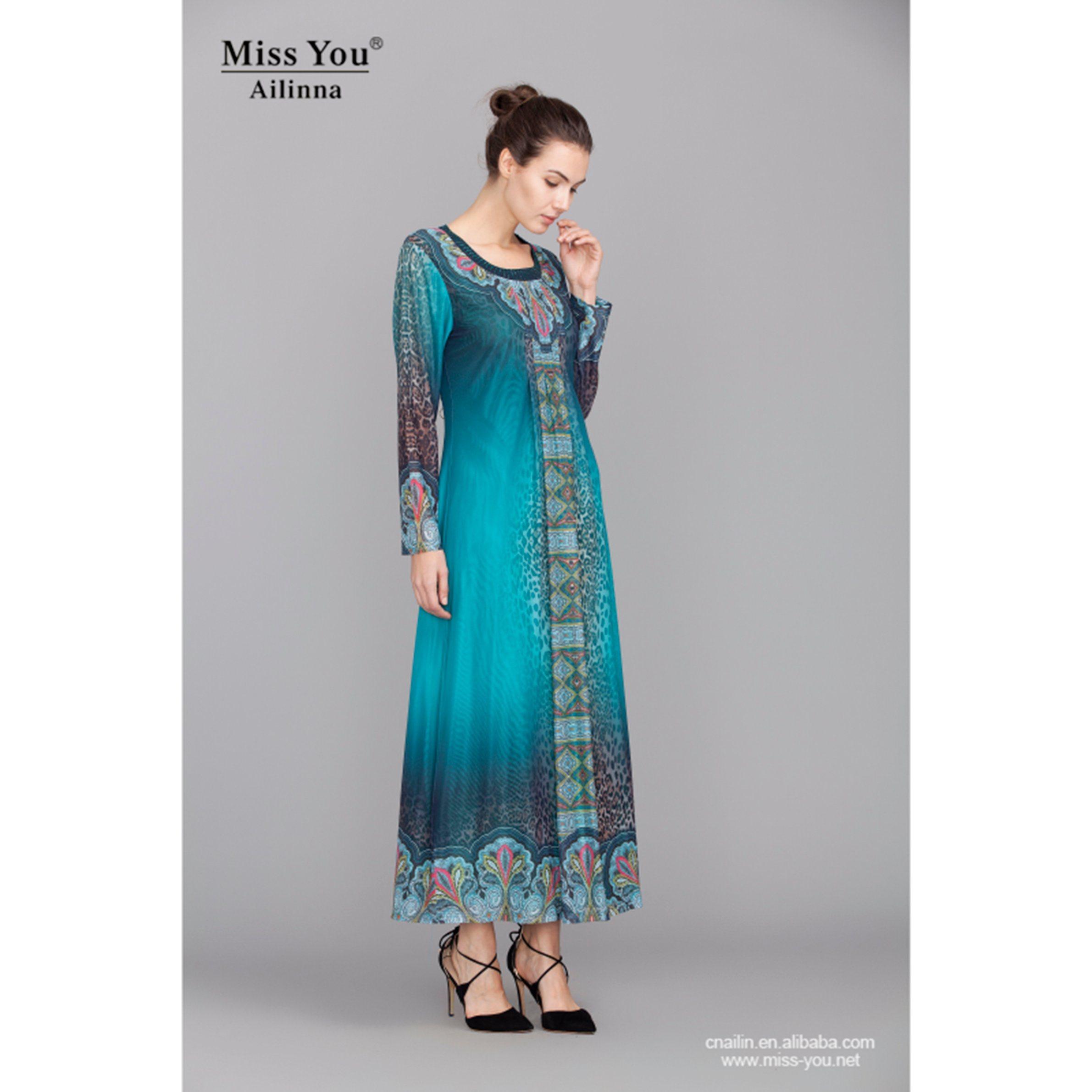 Miss You Ailinna 300631-2 Ladies Fashion Abaya Soft Indian Muslim Dress Distributor