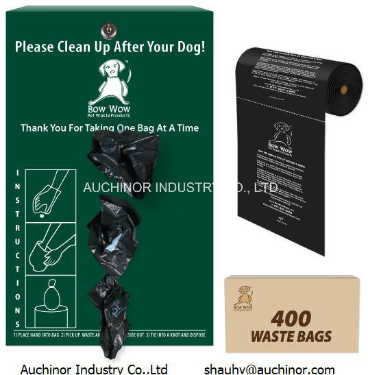 En13432 Astmd6400 Certified Compostable Doggy Waste Bags