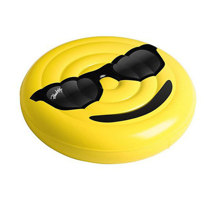 160cm Yellow Color PVC Inflatable Smile Face Pool Float