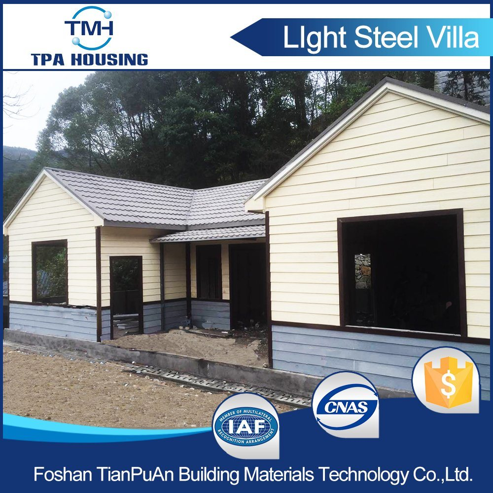 Steel Structure Prefab Kit Villa House for Family