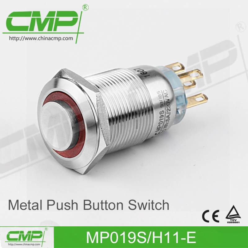 19mm Waterproof Push Button Switch (CE, TUV, RoHS)