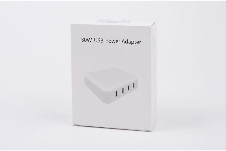 30W Rapid 4 Port USB Hub Charger Desktop Portable Charger