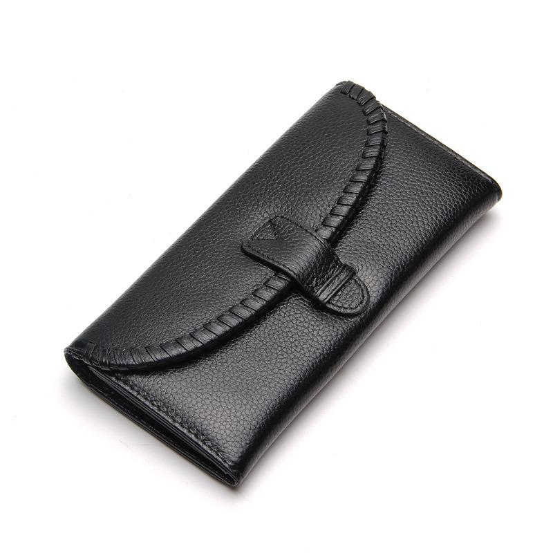 Long Elegant Luxury Genuine Leather Wallet Clutch Purse for Women