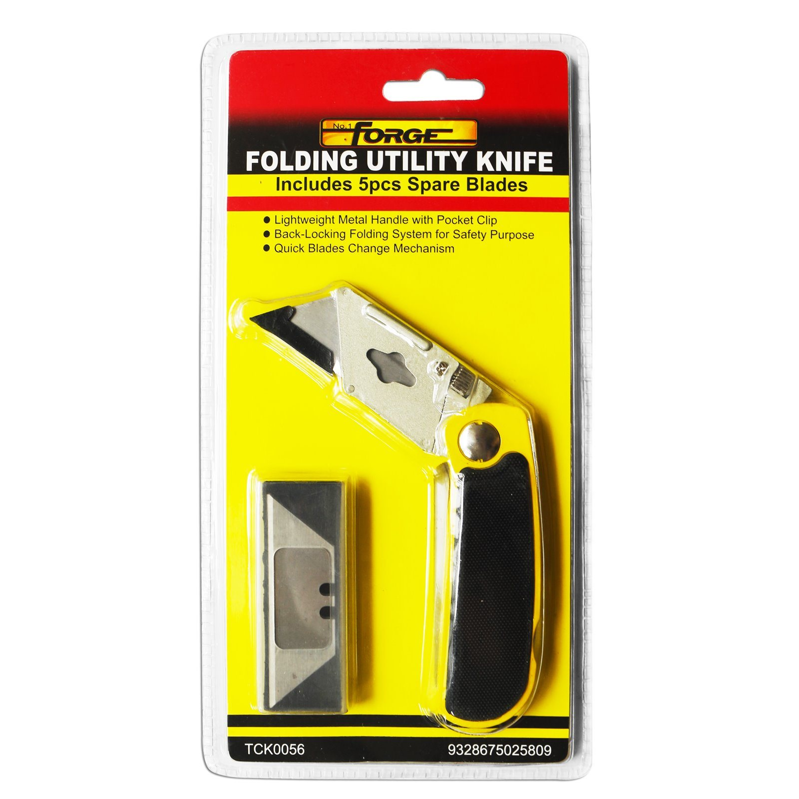 Cutting Tools Folding Utility Knife with 5 Spare Blades